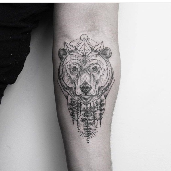 Bold Bear Tattoo Designs, Ideas & Meaning