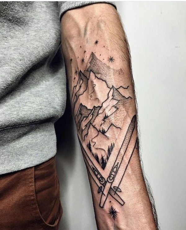 Best Mountain Range Tattoo Designs And Ideas For Men