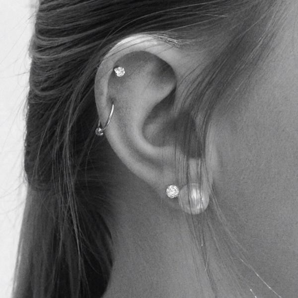 Cool Double Cartilage Piercing Ideas