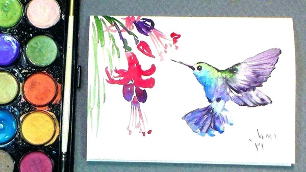 Simple Bird Painting Easy Bird Wallpaper