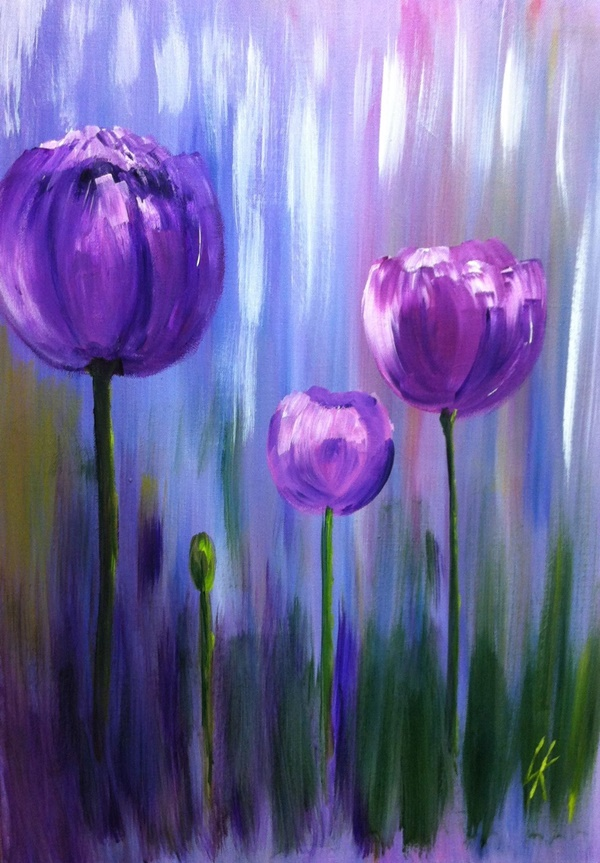 Simple And Easy Flower Paintings For Beginners