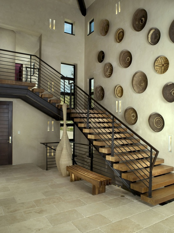 Stylish Stair Wall Decoration Designs And Ideas