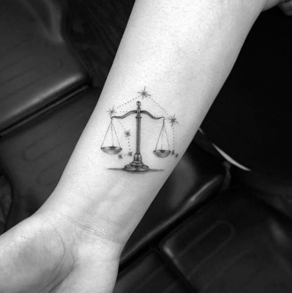 Amazing Libra Constellation Tattoo Designs