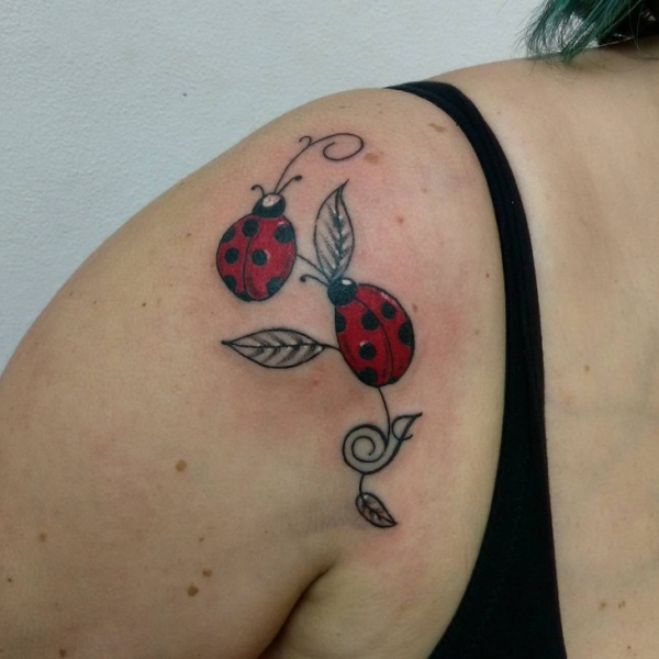 Cute Ladybug Tattoo Designs and Ideas